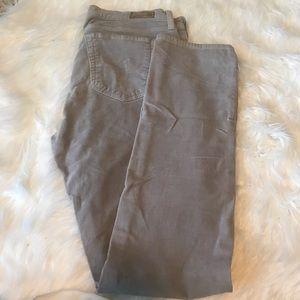 AG gray corduroy pants